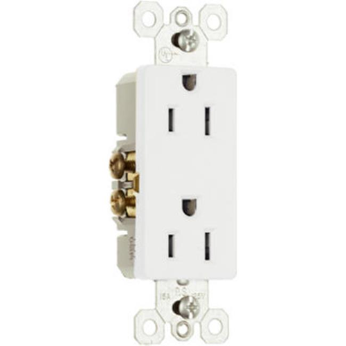 Pass & Seymour 885WCC21 Decorator Outlet 15A 125V White