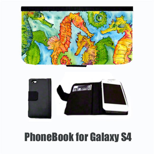 Carolines Treasures 8546-NBGALAXYS4 Seahorse Cell Phonebook Cell Phone case Cover for GALAXY 4S