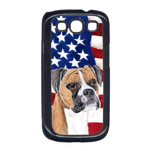 Carolines Treasures SC9113GALAXYS3 USA American Flag with Boxer Cell Phone Cover GALAXY S111