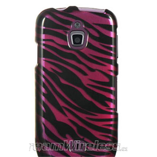 DreamWireless CASAMT759PLZ Samsung Exhibit 4G & T759 Crystal Case Plum Plus Black Zebra