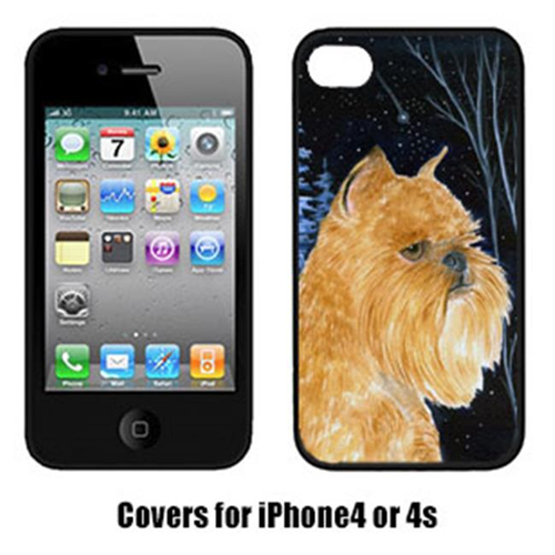 Carolines Treasures SS8362IP4 Starry Night Brussels Griffon Cell Phone cover IPhone 4
