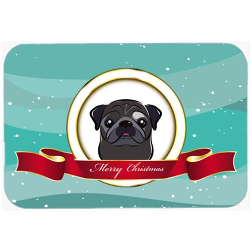 Carolines Treasures BB1573MP Black Pug Merry Christmas Mouse Pad Hot Pad & Trivet