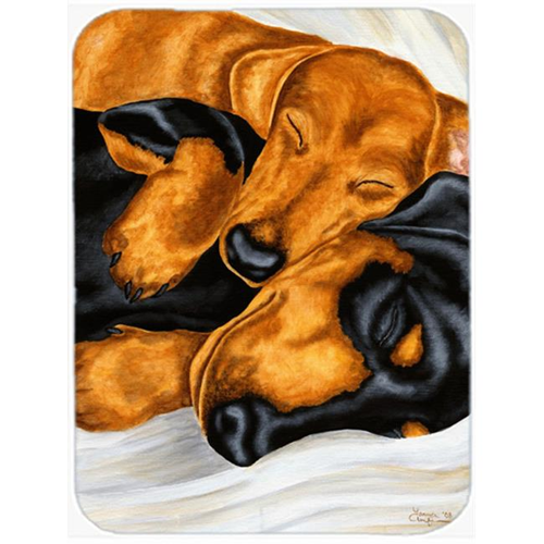 Carolines Treasures AMB1110MP Dachshund Snuggles Mouse Pad Hot Pad or Trivet