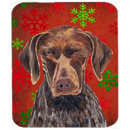 Carolines Treasures SC9435MP German Shorthaired Pointer Snowflakes Christmas Mouse Pad Hot Pad Trivet