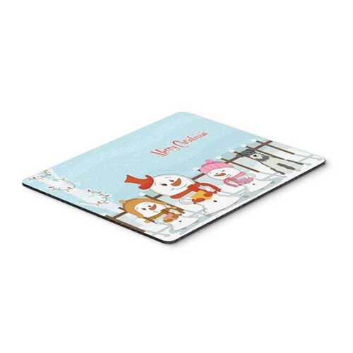 Carolines Treasures BB2385MP Merry Christmas Carolers Miniature Schanuzer Salt & Pepper Mouse Pad Hot Pad or Trivet