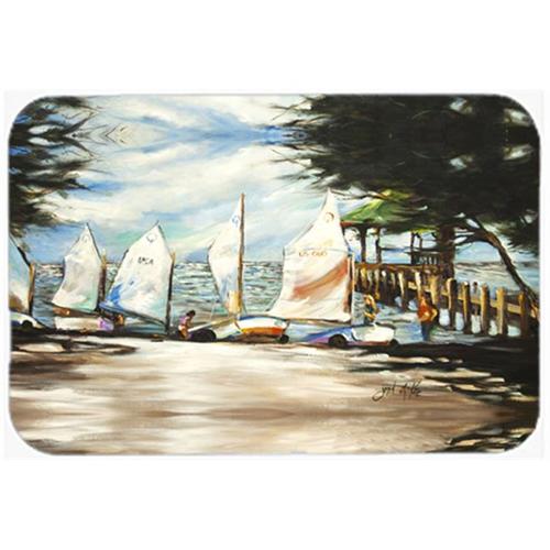 Carolines Treasures JMK1077MP Sailing Lessons Sailboats Mouse Pad Hot Pad & Trivet