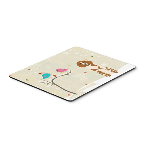 Carolines Treasures BB2544MP Christmas Presents Between Friends Brittany Spaniel Mouse Pad Hot Pad or Trivet