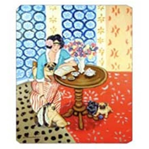 Carolines Treasures 7259MP 8 x 9.5 in. Lady with her Pug Mouse Pad Hot Pad or Trivet