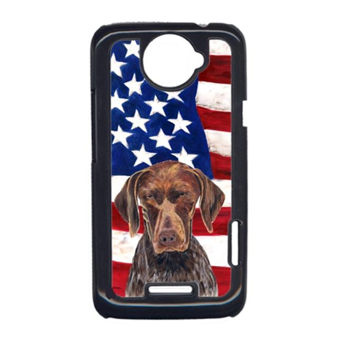 Carolines Treasures SC9034HTCONE USA American Flag With German Shorthaired Pointer HTC One X Cell Phone Cover