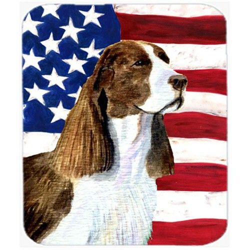 Carolines Treasures SS4040MP Usa American Flag With Springer Spaniel Mouse Pad Hot Pad Or Trivet