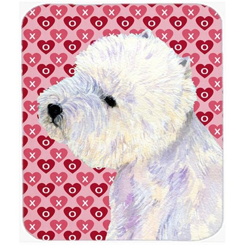 Carolines Treasures LH9135MP Westie Hearts Love And Valentines Day Portrait Mouse Pad Hot Pad or Trivet