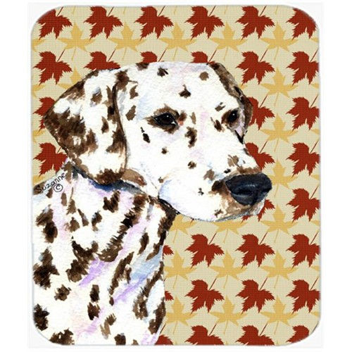 Carolines Treasures SS4387MP Dalmatian Fall Leaves Portrait Mouse Pad Hot Pad Or Trivet