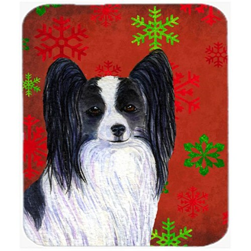Carolines Treasures SS4712MP Papillon Snowflakes Holiday Christmas Mouse Pad Hot Pad or Trivet
