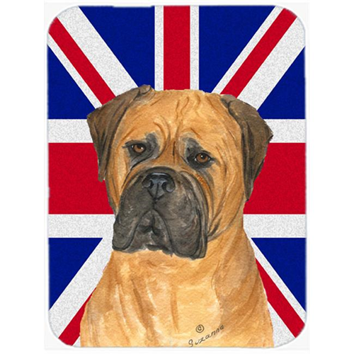 Carolines Treasures SS4959MP 7.75 x 9.25 In. Bullmastiff With English Union Jack British Flag Mouse Pad Hot Pad Or Trivet