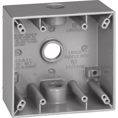 Sigma 14350 2 Gang Gray Weatherproof Outlet Box