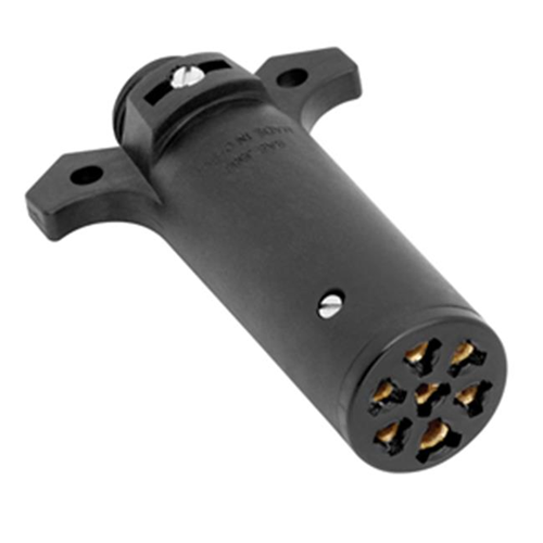 Wesbar 787304 7-Way Round Pin Agricultural Trailer End Connector 4.50 x 3 x 1.50 in.