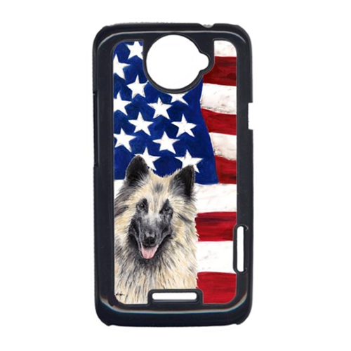 Carolines Treasures SC9116HTCONE USA American Flag With Belgian Tervuren HTC One X Cell Phone Cover