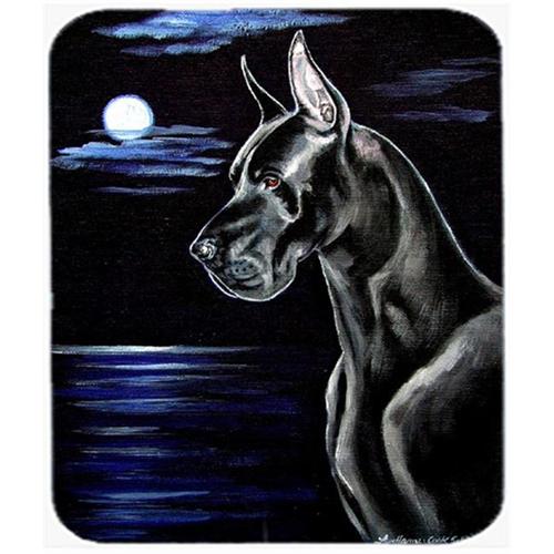 Carolines Treasures 7060MP 9.5 x 8 in. Moonlight Black Great Dane Mouse Pad Hot Pad or Trivet