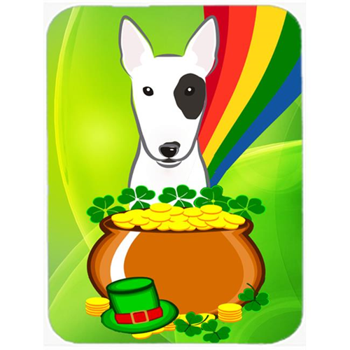 Carolines Treasures BB1953MP Bull Terrier St. Patricks Day Mouse Pad Hot Pad or Trivet
