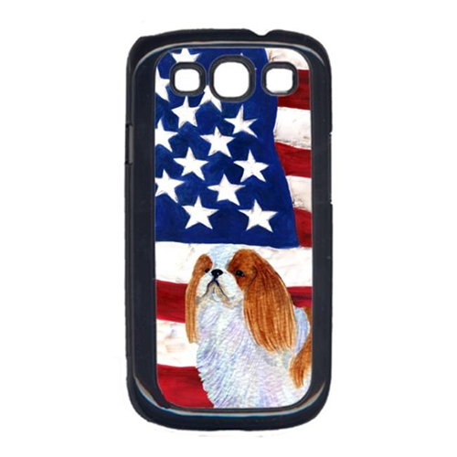 Carolines Treasures SS4034GALAXYS3 USA American Flag with English Toy Spaiel USA Cell Phone Cover GALAXY S111