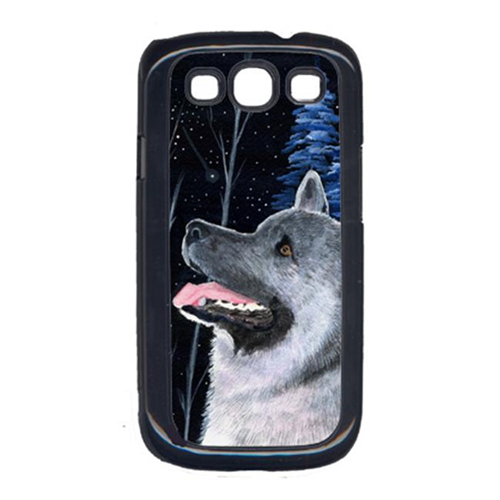Carolines Treasures SS8398GALAXYSIII Starry Night Norwegian Elkhound Cell Phone Cover Galaxy S111