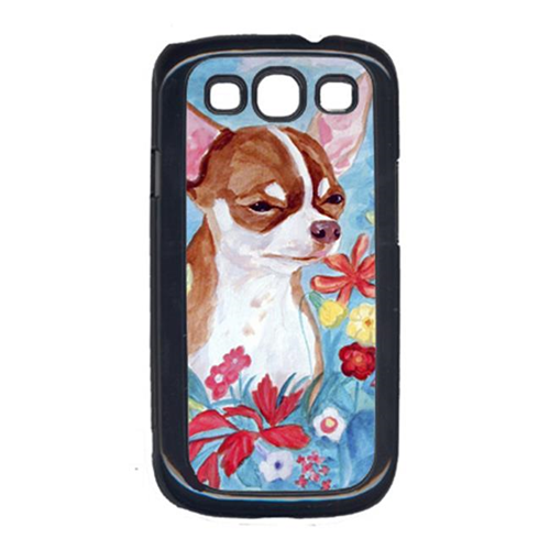 Carolines Treasures 7053GALAXYSIII Chihuahua In Flowers Cell Phone Cover For Galaxy S111