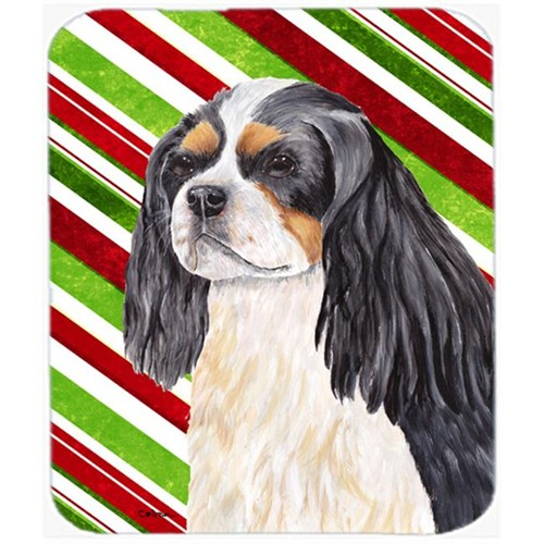 Carolines Treasures SC9351MP Cavalier Spaniel Candy Cane Holiday Christmas Mouse Pad Hot Pad or Trivet