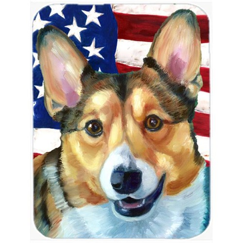 Carolines Treasures LH9546MP Corgi Usa Patriotic American Flag Mouse Pad Hot Pad & Trivet