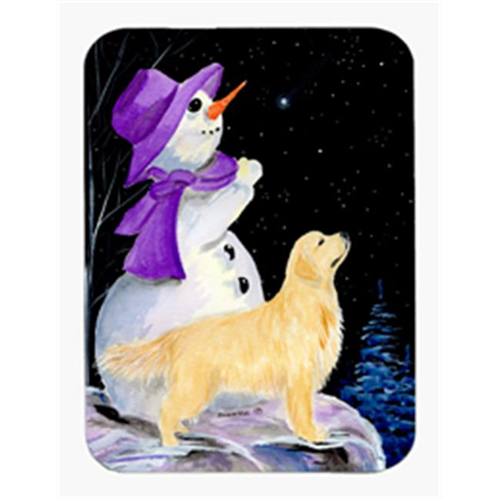 Carolines Treasures SS8950MP Snowman with Golden Retriever Mouse Pad & Hot Pad & Trivet