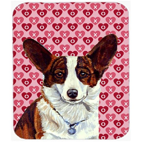 Carolines Treasures LH9153MP Corgi Hearts Love And Valentines Day Portrait Mouse Pad Hot Pad or Trivet