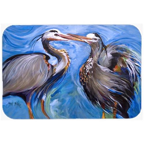 Carolines Treasures JMK1011MP Blue Heron Love Mouse Pad Hot Pad & Trivet