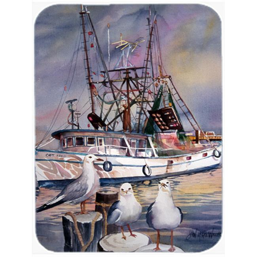Carolines Treasures JMK1196MP Sea Gulls And Shrimp Boats Mouse Pad Hot Pad & Trivet