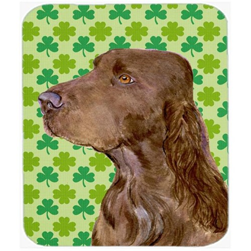Carolines Treasures SS4456MP Field Spaniel St. Patricks Day Shamrock Portrait Mouse Pad Hot Pad Or Trivet