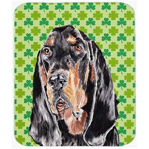 Carolines Treasures SC9567MP 7.75 x 9.25 in. Coonhound St Patricks Irish Mouse Pad Hot Pad or Trivet