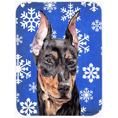 Carolines Treasures SC9788MP German Pinscher Winter Snowflakes Mouse Pad Hot Pad Or Trivet 7.75 x 9.25 In.