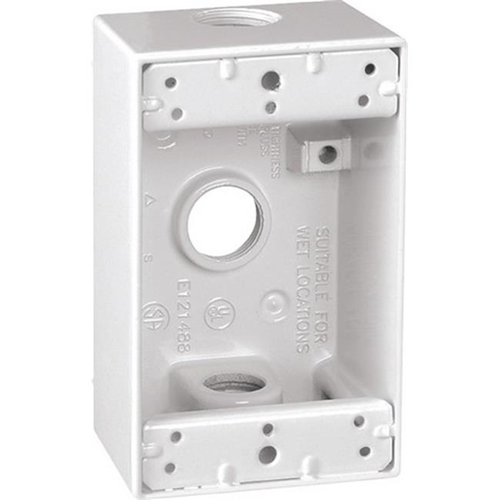 Sigma 14250WH 1 Gang White Weatherproof Outlet Box