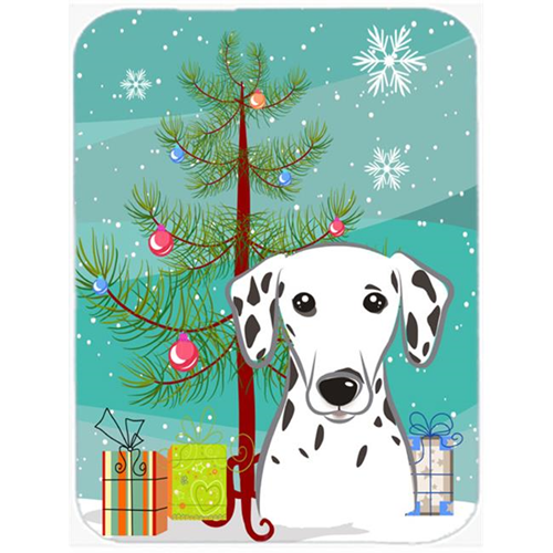 Carolines Treasures BB1582MP Christmas Tree And Dalmatian Mouse Pad Hot Pad & Trivet