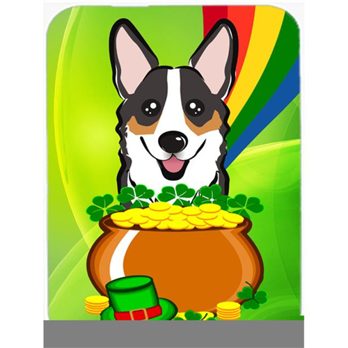 Carolines Treasures BB1999MP Tricolor Corgi St. Patricks Day Mouse Pad Hot Pad or Trivet