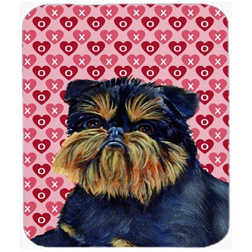 Carolines Treasures LH9163MP Brussels Griffon Hearts Love And Valentines Day Mouse Pad Hot Pad or Trivet