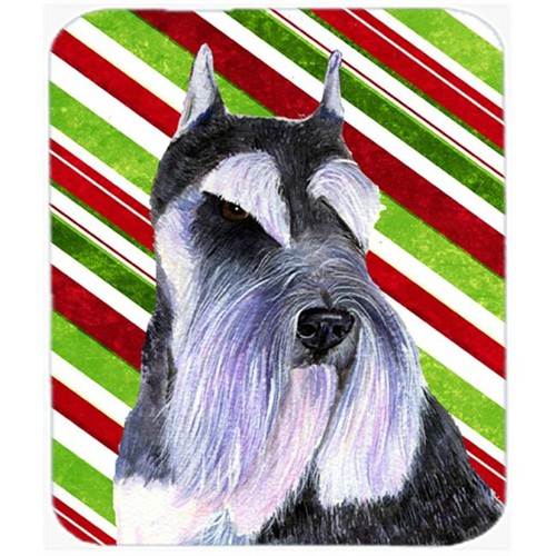 Carolines Treasures SS4546MP Schnauzer Candy Cane Holiday Christmas Mouse Pad Hot Pad Or Trivet