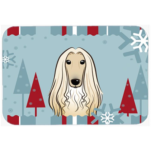 Carolines Treasures BB1740MP Winter Holiday Afghan Hound Mouse Pad Hot Pad & Trivet
