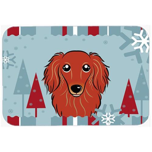 Carolines Treasures BB1710MP Winter Holiday Longhair Red Dachshund Mouse Pad Hot Pad & Trivet