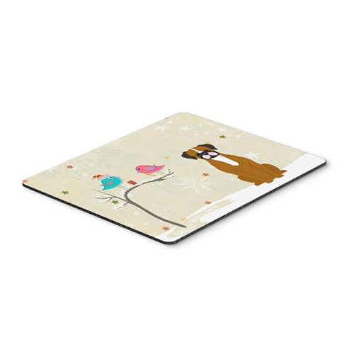 Carolines Treasures BB2588MP Christmas Presents Between Friends Flashy Fawn Boxer Mouse Pad Hot Pad or Trivet