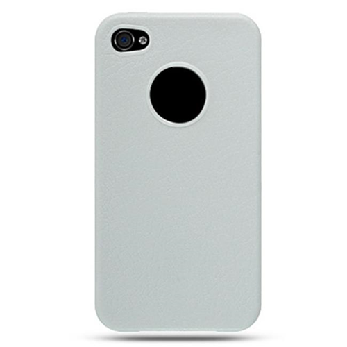 DreamWireless IP-CSIP4WT-L iPhone 4 Compatible Crystal Skin Case - Leather White