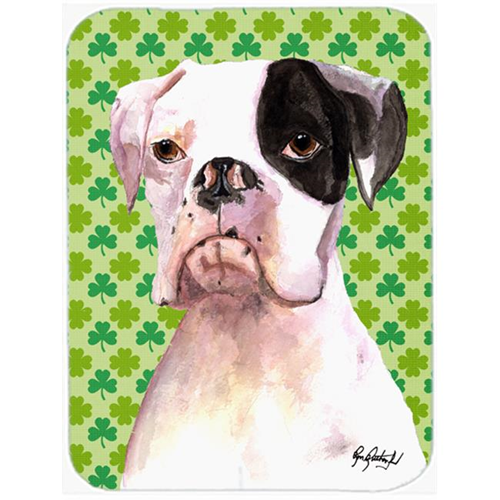 Carolines Treasures RDR3005MP 7.75 x 9.25 In. Cooper St Patricks Day Boxer Mouse Pad Hot Pad or Trivet