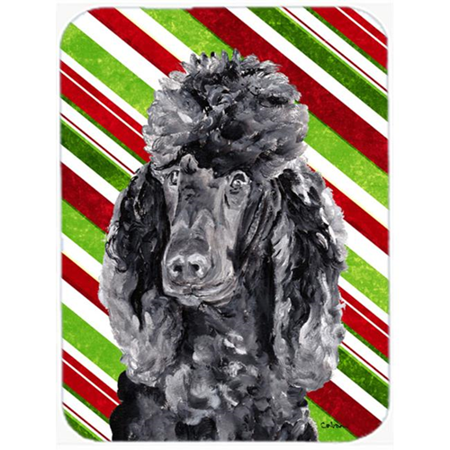 Carolines Treasures SC9794MP Black Standard Poodle Candy Cane Christmas Mouse Pad Hot Pad Or Trivet 7.75 x 9.25 In.