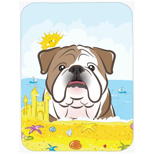 Carolines Treasures BB2087MP English Bulldog Summer Beach Mouse Pad Hot Pad or Trivet