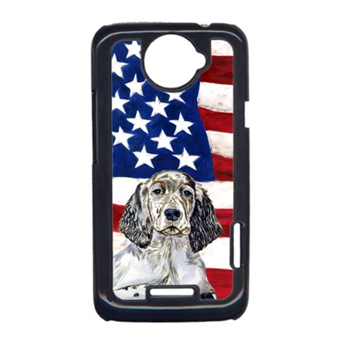 Carolines Treasures LH9022HTCONE USA American Flag With English Setter HTC One X Cell Phone Cover