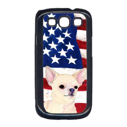 Carolines Treasures SS4228GALAXYS3 USA American Flag with Chihuahua Cell Phone Cover GALAXY S111