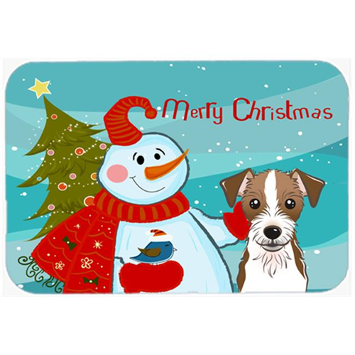 Carolines Treasures BB1822MP Snowman With Jack Russell Terrier Mouse Pad Hot Pad & Trivet